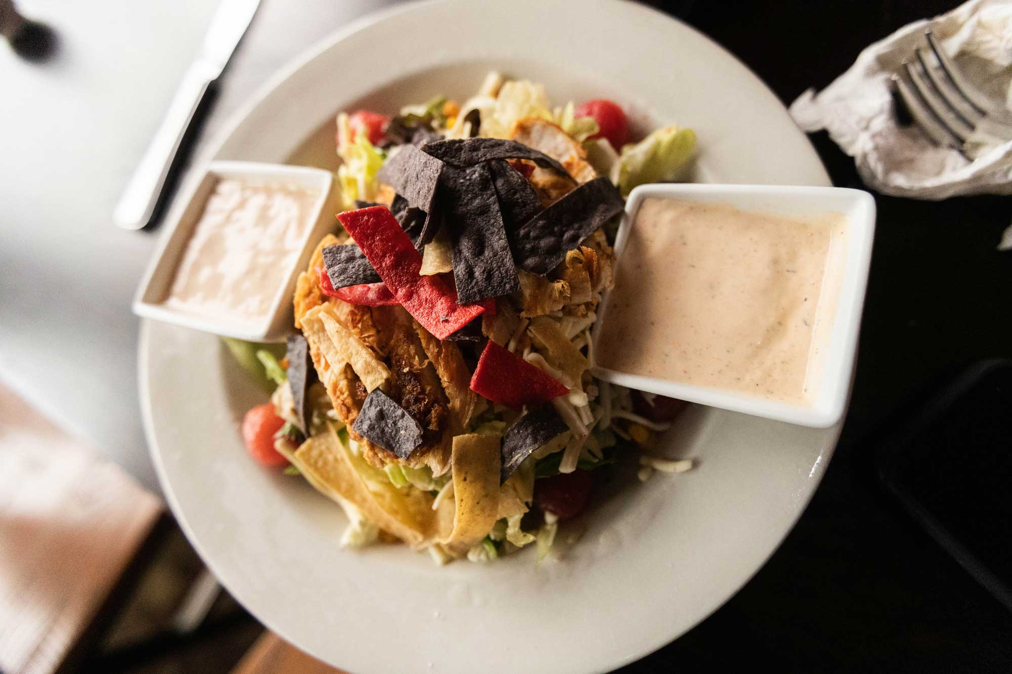 tortilla strips salad camden on the lake lake of the ozarks dining