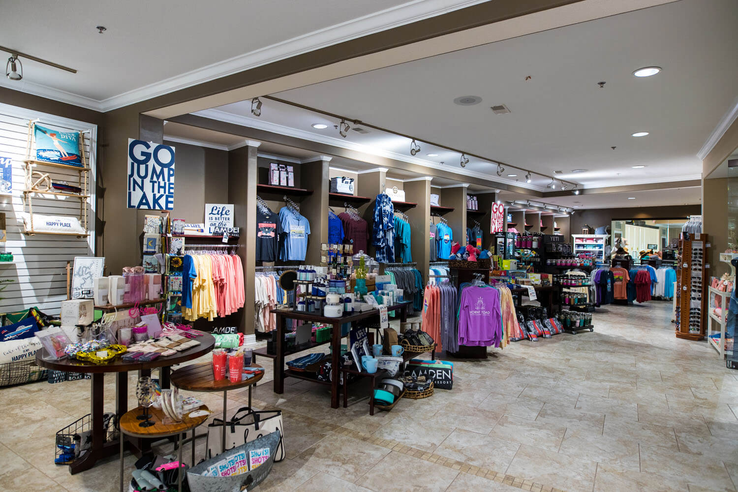 Shop with merchandise at Camden on the Lake Resort