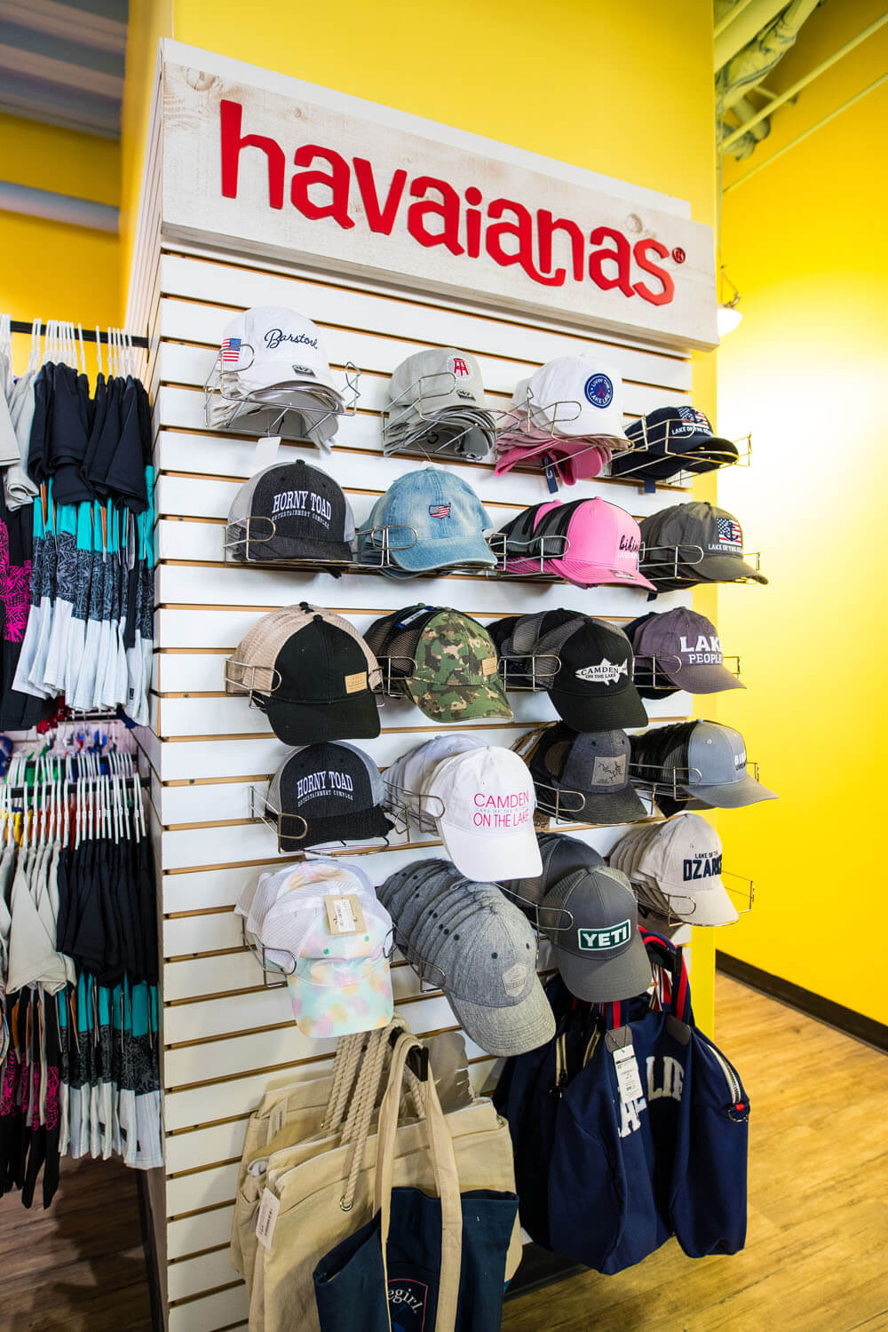 Hats in gift shop camden on the lake resort lake of the ozarks