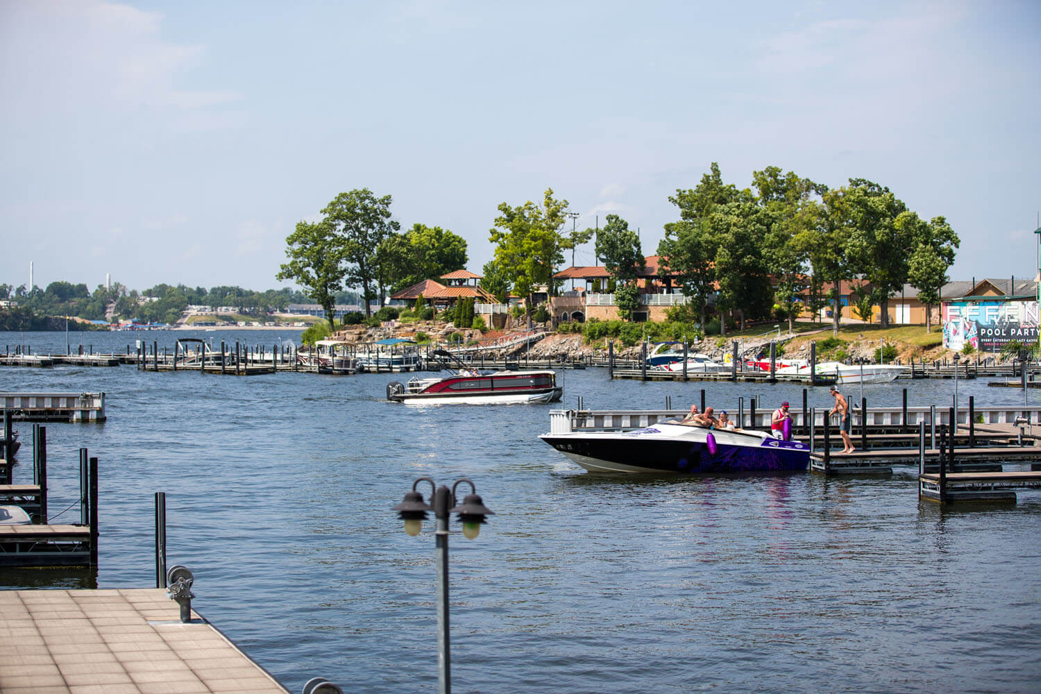 Lake of the Ozarks waterfront and docks and Camden on the Lake Resort