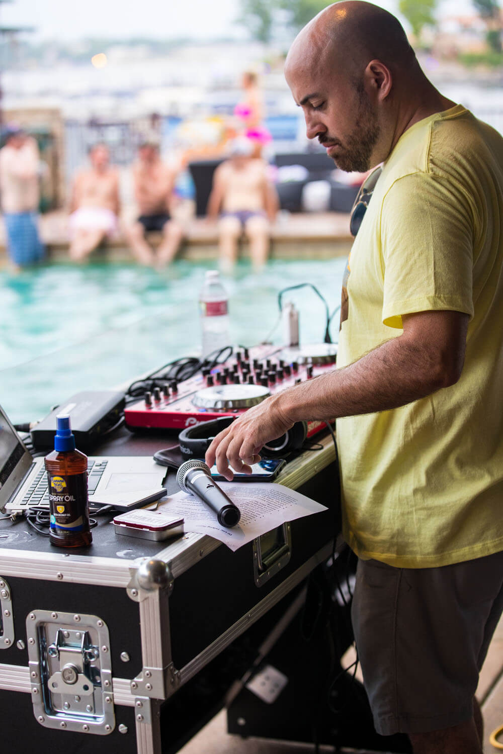 DJ performing music at Camden on the Lake on Lake of the Ozarks
