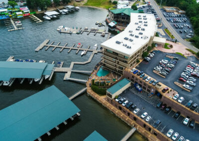 Aeriel View of Camden on the Lake Resort on Lake of the ozarks