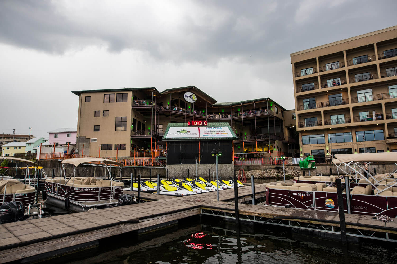 Camden on the Lake Resort viewed from the docks on Lake of the Ozarks