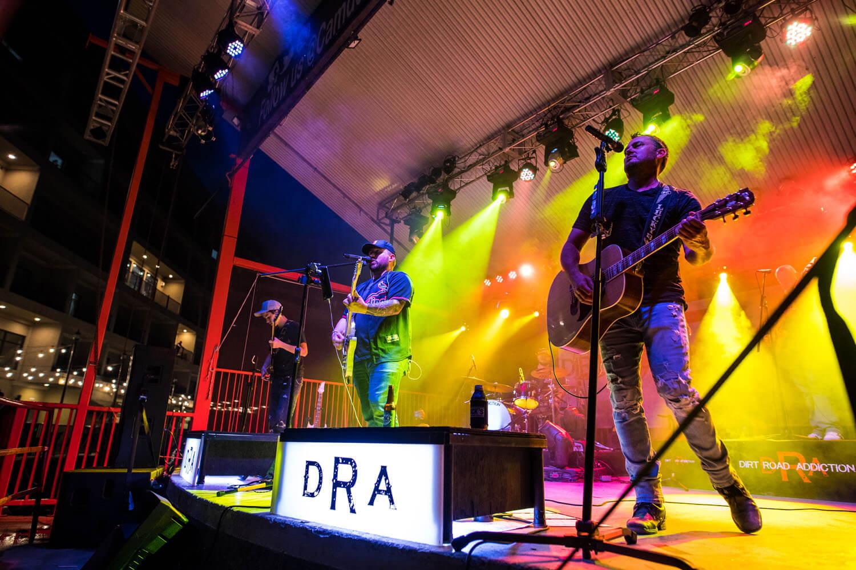 Dirt Road Addiction performing live at Toad Island at Lake of the Ozarks
