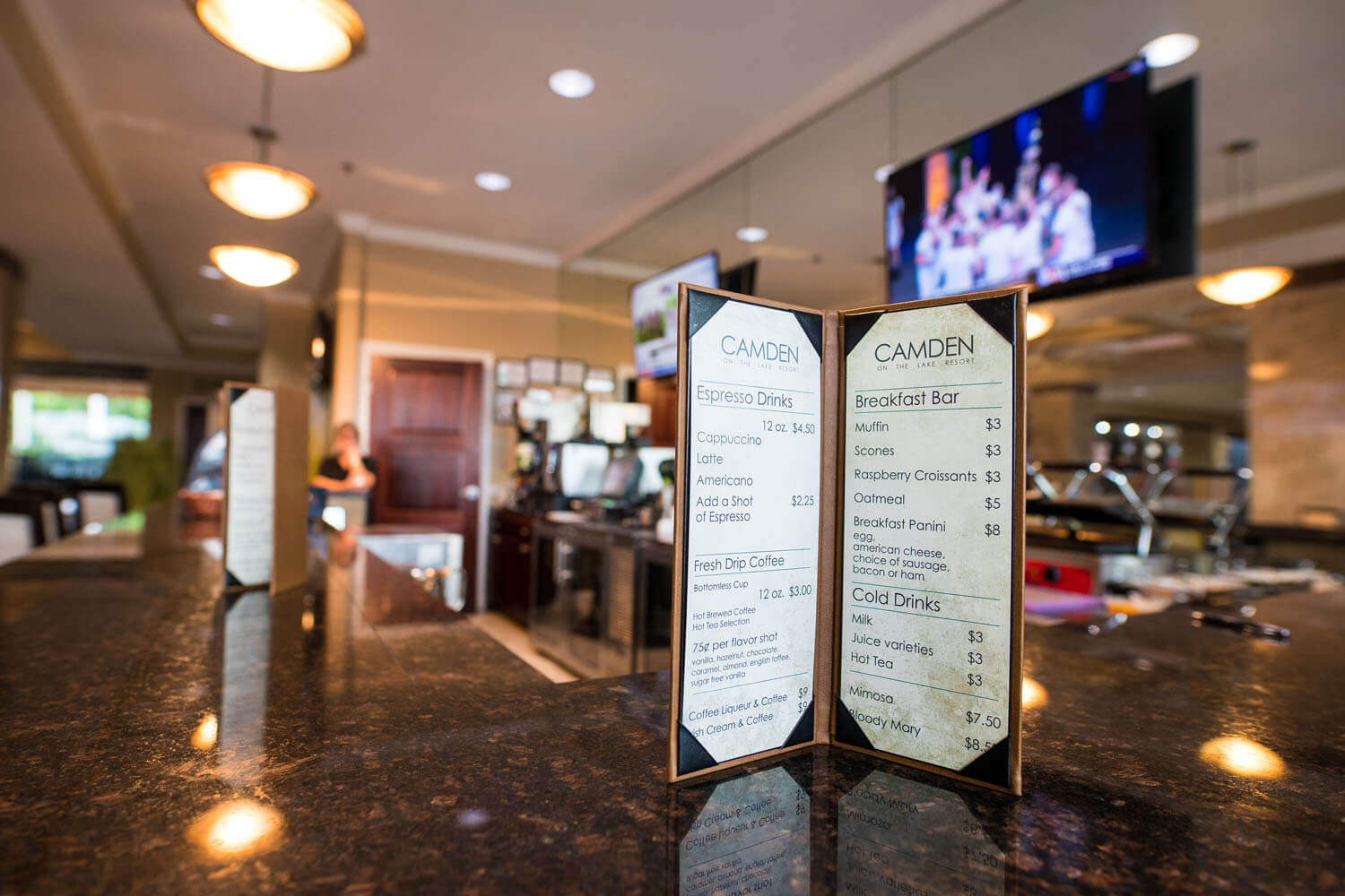 Coffee and Breakfast Bar menu at Cafe - Camden on the Lake Resort - Lake of the Ozarks