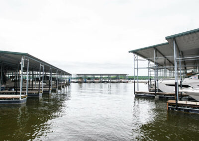 the docks of the marina at camden on the lake resort Lake of the Ozarks