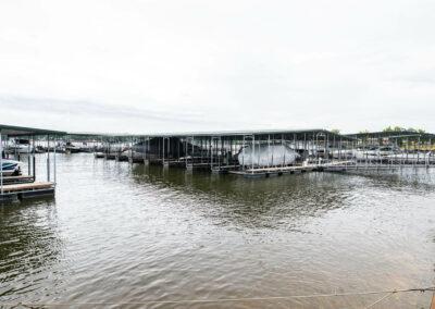 the marina docks at camden on the lake resort