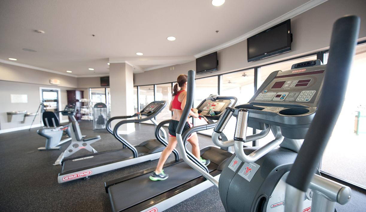 Fitness amenities including treadmills and cardio equipment at Camden on the Lake Resort Lake of the Ozarks